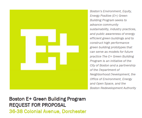 Boston E+ Green Building Demonstration Program RFP